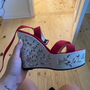 Super unique Louboutin wedges